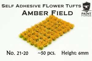 AMBER FIELD FLOWERS 6MM