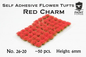 RED CHARM FLOWERS 6MM