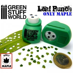 Miniature Leaf Punch DARK GREEN