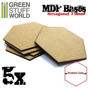 MDF Bases - Hexagonal 75 mm