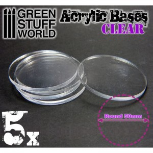 Acrylic Bases - Round 50 mm CLEAR