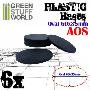 Plastic Bases - Oval Pill 60x35mm AOS