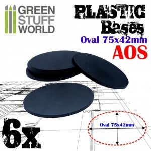 Plastic Bases - Oval Pill 75x42mm AOS