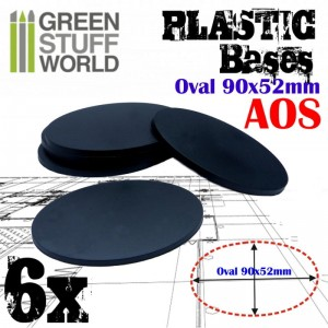 Plastic Bases - Oval Pill 90x52mm AOS