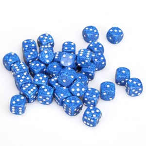 SPECKLED D6 SET OF 36: WATER