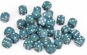 SPECKLED D6 SET OF 36: SEA