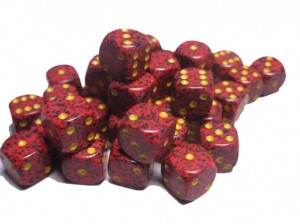 SPECKLED D6 SET OF 36: MERCURY
