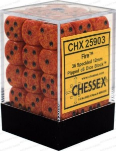 SPECKLED D6 SET OF 36: FIRE