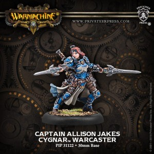 CAPTAIN ALLISON JAKES - CYGNAR WARCASTER (METAL)