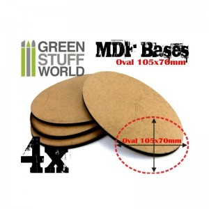 MDF OVAL BASE 105X70 - PACK 4
