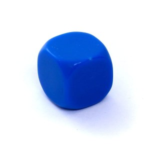 D6 DIE MATT 16 MM - WITHOUT SYMBOLS - BLUE
