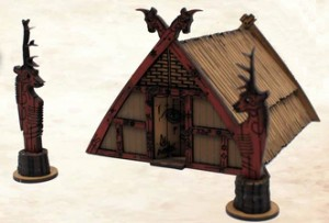 Wiccen Shaman's Hut Plus Throne & 2 Totem-Poles (LIMITED)