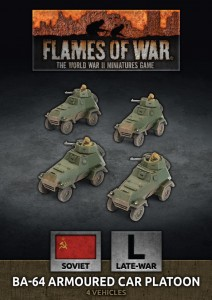 BA-64 Armoured Car Platoon (x4 Plastic)