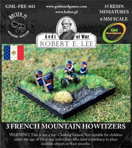 3 French Mountain Howitzers