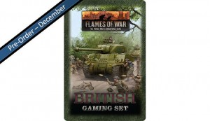 Flames of War British Tin (x20 Tokens, x2 Objectives, x16 Dice)