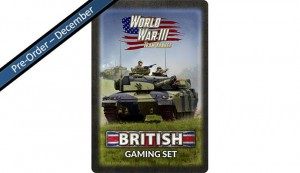 Team Yankee British Tin (x20 Tokens, x2 Objectives, x16 Dice)
