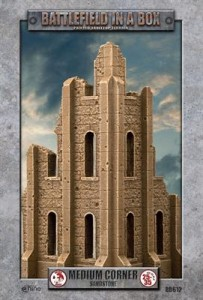 Gothic Battlefields - Medium Corner - Sandstone