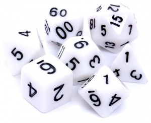 RPG DICE SET - MATT - WHITE