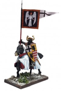 ORDENSSTAAT WAR BANNER & BEARER (MOUNTED)