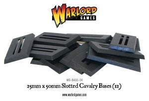 25MM X 50MM CAVALRY SLOTTED BASES (12)