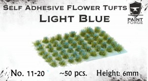 LIGHT BLUE FLOWERS 6MM