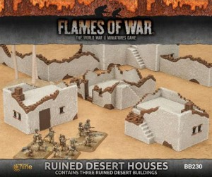 RUINED SMALL & MEDIUM DESERT HOUSES (3X)