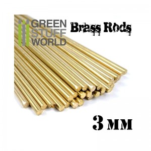 BRASS RODS 3MM PACKX5