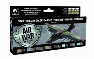 ZESTAW AIR WAR 8 FARB - SOVIET / RUSSIAN COLORS SU-25/39 FROGFOOT FROM 80 TO PRESENT