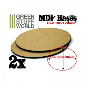 MDF OVAL BASE 90X120 - PACK 2