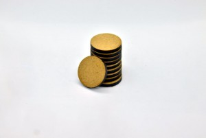 HDF BASES 25mm ROUND (10 pieces)
