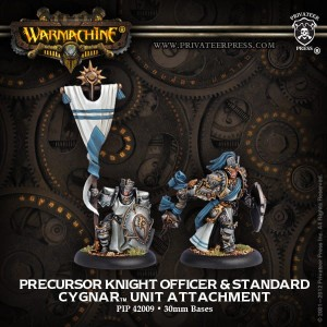 CYGNAR ALLIES PRECURSOR KNIGHT OFFICER & STANDARD (2)
