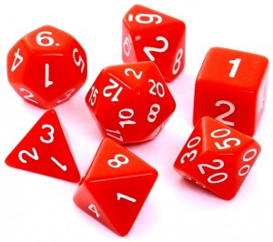 RPG DICE SET - MATT - RED