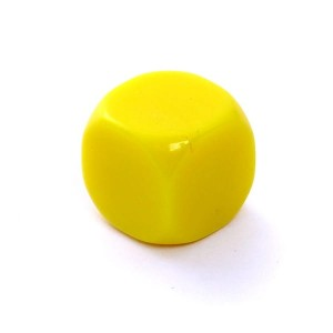 D6 DIE MATT 16 MM - WITHOUT SYMBOLS - YELLOW
