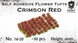 CRIMSON RED FLOWERS 6MM