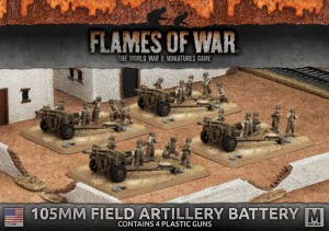 105MM FIELD ARTILLERY BATTERY (4X PLASTIC)