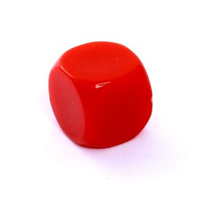 D6 DIE MATT 16 MM - WITHOUT SYMBOLS - RED