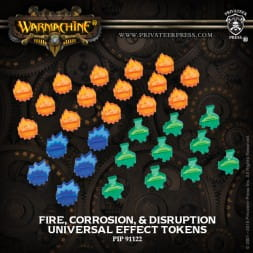 UNIVERSAL EFFECT FIRE CORROSION DISRUPTION  TOKENS