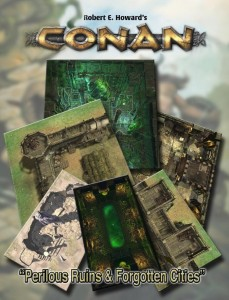 CONAN PERILOUS RUINS & FORGOTTEN CITIES GEOMORPHIC TILES SET
