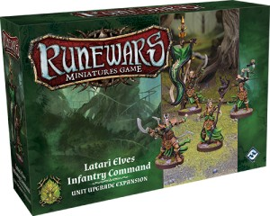 Latari Elves Infantry Command Unit Upgrade Expansion: Runewars Miniatures Game