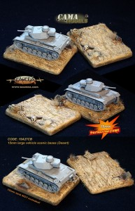 15mm 2 different large tank scenic bases (desert)