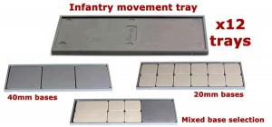 VICTRIX INFANTRY MOVEMENT TRAYS (X12) [OOP]