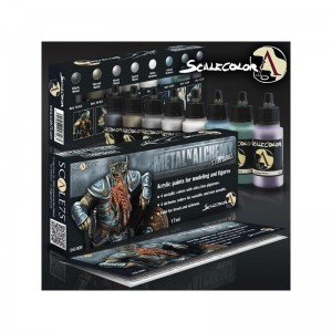 SCALE 75 PAINT SET - METAL ALCHEMY - STEEL