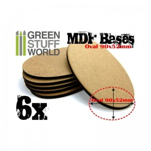 MDF OVAL BASE 90X52MM - PACK 6