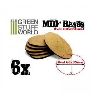 MDF OVAL BASE 60X35MM - PACK 6