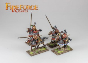 MONGOL HEAVY CAVALRY LANCERS (4 MOUNTED RESIN FIGURES)