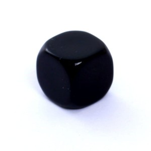 D6 DIE MATT 16 MM - WITHOUT SYMBOLS - BLACK