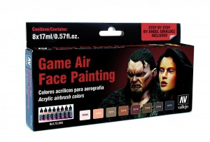 ZESTAW GAME AIR 8 FARB - FACE PAINTING BY A. GIRALDEZ