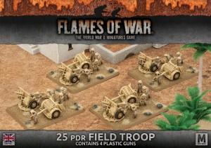 25PDR FIELD TROOP (PLASTIC X 4)
