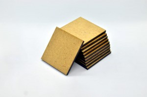 HDF BASES 40x40mm SQUARE (10 pieces)