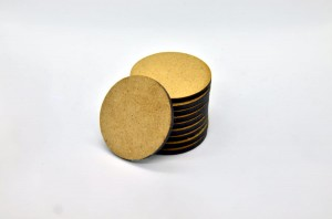HDF BASES 40mm ROUND (10 pieces)